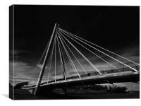 Southport Marine Bridge , Canvas Print