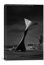 Blackpool South Beach Whale , Canvas Print