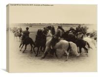 Afghan Horsemen, Canvas Print