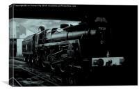 Prepairing the Irish Mail Train, Canvas Print