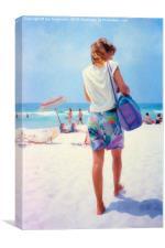 Woman on the beach, Canvas Print