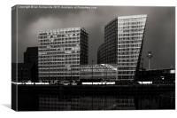 Apartments at Liverpool Docks, Canvas Print