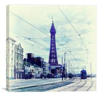 Blackpool Tower and Tram, Canvas Print
