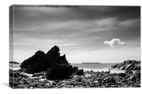 Floaty cloud above Marloes sands in Pembrokeshire, Canvas Print
