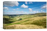 Summer in the High Peak, Derbyshire, Canvas Print