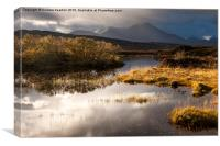 Still pool and moody mountains, Isle of Skye, Sco, Canvas Print