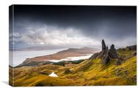 Dramatic landscape on the Isle of Skye, Scotland, Canvas Print