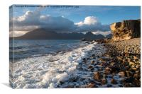 Shoreline on Elgol beach, Isle of Skye, Scotland, Canvas Print