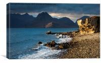 Dramatic light on Elgol beach, Isle of Skye, Canvas Print