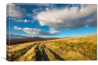 Colourful moorland scenery at Hayfield, Derbyshir, Canvas Print
