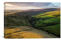 A September evening in the High Peak, Derbyshire, Canvas Print