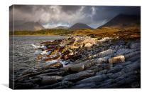 Shores of Loch Slapin, Torrin, Isle of Skye, Canvas Print
