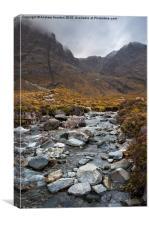 Mountainous scenery, Isle of Skye, Canvas Print