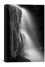 Lumsdale falls, Matlock, Canvas Print