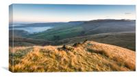 High Peak hills at dawn, Canvas Print