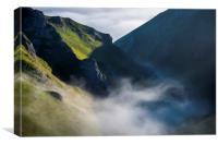 Winnats Pass mist, Canvas Print