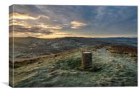 Frosty morning on Lantern Pike, Derbyshire, Canvas Print