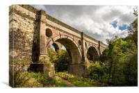 Marple Viaduct, Peak Forest Canal, Canvas Print