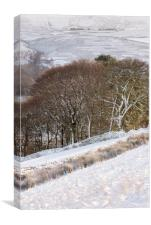 Winter in the hills of the Peak District, Canvas Print