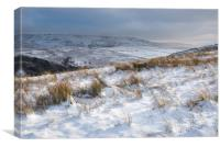 Snowy morning in the Peak District, Canvas Print