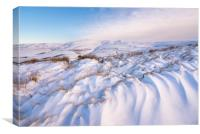 Peak District snowdrifts, Canvas Print