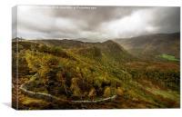 Autumn in Borrowdale, Canvas Print