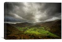 Borrowdale in the English Lake District, Canvas Print