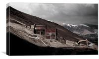 Abandoned mine at Force Crag , Canvas Print