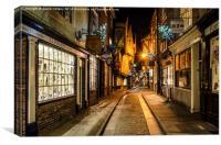 The Shambles in York, Canvas Print