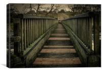 Bridge over Linton Falls, Canvas Print