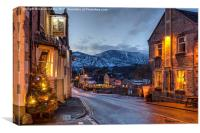 Christmas in Castleton, Canvas Print