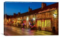 Main Street, Castleton, Derbyshire, Canvas Print