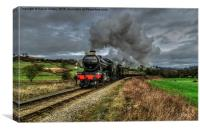61994 'The Great Marquis' at Esk Valley, Canvas Print