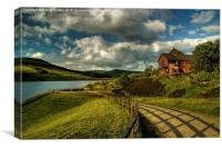 Old house by torside Reservoir, Canvas Print
