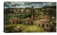 Porth Wen Brickworks, Canvas Print