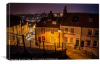 Heading down 199 Steps in Whitby, Canvas Print