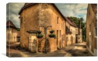Backstreet at Noyen sur Sarthe, Canvas Print