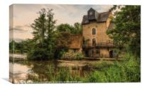 Old Water Mill at Noyen sur Sarthe, Canvas Print