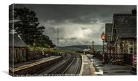 Dent Station - highest station in England, Canvas Print