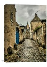 The backstreets of Le Mans, Canvas Print