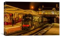 34092 'City of Wells' at Keighley, Canvas Print