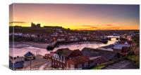 Sunrise over Whitby Abbey, Canvas Print