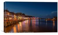 Whitby waterfront, Canvas Print