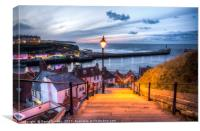 199 Steps in Whitby, Canvas Print