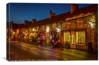 Christmas comes to Castleton, Canvas Print