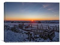 Sun Rising over Bradford, Canvas Print