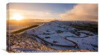 A snowy day on Mam Tor, Canvas Print