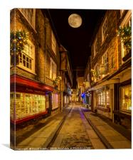 Moonrise over the Shambles, Canvas Print
