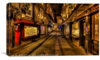 Christmas eve at the Shambles, Canvas Print