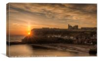 Sun rising over the Abbey, Canvas Print